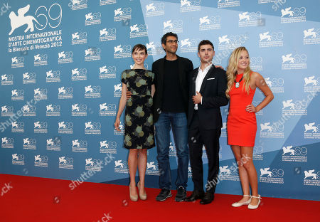 Hallie Elizabeth Newton, Ramin Bahrani, Zac Efron, Maika Monroe Screenwriter Hallie Elizabeth Newton, director Ramin Bahrani, actors Zac Efron and Maika Monroe pose at the photo call for the film 'At Any Price' during the 69th edition of the Venice Film Festival in Venice, Italy