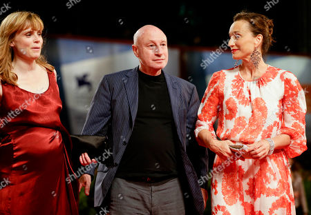 Pascal Bonitzer Kristin Scott Thomas Isabelle Carre From right, actress Kristin Scott Thomas, director Pascal Bonitzer and actress Isabelle Carre' arrive for the premiere of the movie 'Cherchez Hortense' at the 69th edition of the Venice Film Festival in Venice, Italy