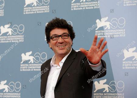 Daniele Cipri Director Daniele Cipri' poses during the photo call for the movie 'E' Stato Il Figlio' at the 69th edition of the Venice Film Festival in Venice, Italy