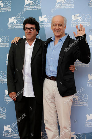 Daniele Cipri' Toni Servillo Director Daniele Cipri', left, and actor Toni Servillo pose during the photo call for the movie 'E' Stato Il Figlio' at the 69th edition of the Venice Film Festival in Venice, Italy