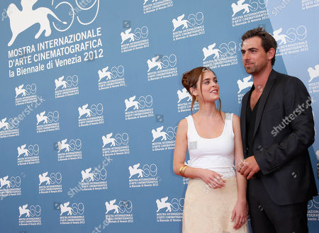 Yiftach Klein Actors Hadas Yaron and Yiftach Klein pose for the photo call of the film 'Fill The Void' at the 69th edition of the Venice Film Festival in Venice, Italy