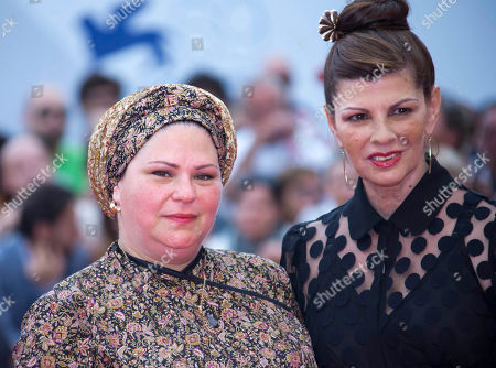 Rama Burshtein Irit Sheleg Director Rama Burshtein, left, and actress Irit Sheleg arrive for the premiere of the movie 'Fill The Void' at the 69th edition of the Venice Film Festival in Venice, Italy