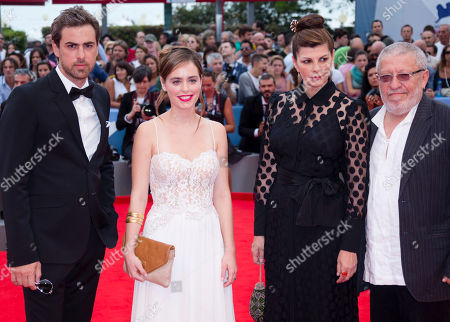 Yiftach Klein Hadas Yaron Irit Sheleg Chaim Sharir From left, actors Yiftach Klein, Hadas Yaron, Irit Sheleg, and Chaim Sharir arrive for the premiere of the movie 'Fill The Void' at the 69th edition of the Venice Film Festival in Venice, Italy
