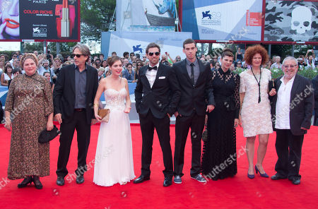 Stock Picture of Yiftach Klein Hadas Yaron Irit Sheleg Ido Samuel Rama Burshtein Chaim Sharir From left, director Rama Burshtein, producer Assaf Amir, actors, Hadas Yaron, Yiftach Klein, Ido Samuel, Irit Sheleg, Razia Israely, and Chaim Sharir arrive for the premiere of the movie 'Fill The Void' at the 69th edition of the Venice Film Festival in Venice, Italy