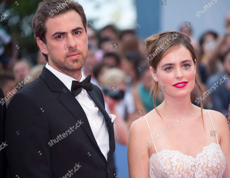 Stock Picture of Hadas Yaron Yiftach Klein From left, actors Yiftach Klein, and Hadas Yaron arrive for the premiere of the movie 'Fill The Void' at the 69th edition of the Venice Film Festival in Venice, Italy