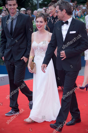 Hadas Yaron Yiftach Klein Ido Samuel From rightt, actors Yiftach Klein, Hadas Yaron, and Ido Samuel arrive for the premiere of the movie 'Fill The Void' at the 69th edition of the Venice Film Festival in Venice, Italy