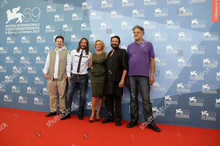 Matt Reeves, Bob Sinclar, Isabella Ferrari, Shekhar Kapur, Michel Demopoulos Opera Prima jury members from left Matt Reeves, Bob Sinclair, Isabella Ferrari, Jury president Shekhar Kapur and jury member Michel Demopoulos pose at the photocall during the 69th edition of the Venice Film Festival in Venice, Italy