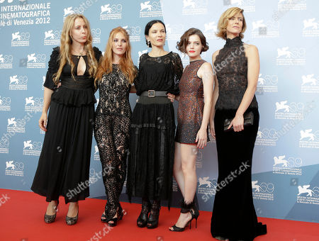 Jen Gatien, Josephine De La Baume, Xan Cassavetes, Roxanne Mesquida, Anna Mouglalis From left, producer Jen Gatien, actress Josephine De La Baume, director Xan Cassavetes, actresses Roxanne Mesquida, and Anna Mouglalis pose during the photo call for the movie 'Kiss Of The Damned' at the 69th edition of the Venice Film Festival in Venice, Italy