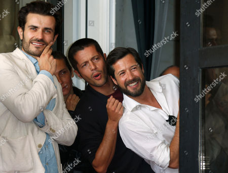 Albano Jeronimo, Jose Afonso Pimentel, Filipe Vargas From left, actors Albano Jeronimo, Jose Afonso Pimentel and Filipe Vargas arrive for the photo call of the film 'Linhas De Wellington' at the 69th edition of the Venice Film Festival in Venice, Italy