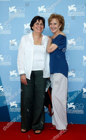 Valeria Sarmiento, Marisa Paredes Director Valeria Sarmiento, left, and actress Marisa Paredes pose for the photo call of the film 'Linhas De Wellington' at the 69th edition of the Venice Film Festival in Venice, Italy