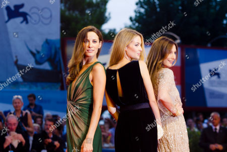 Soraia Chaves Victoria Guerra Elsa Zylberstein Actresses Soraia Chaves, Victoria Guerra, and Elsa Zylberstein arrive for the premiere of the movie 'Linhas De Wellington' at the 69th edition of the Venice Film Festival in Venice, Italy
