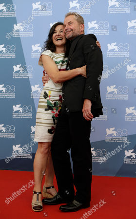 Maria Hofstatter, Ulrich Seidl Actress Maria Hofstatter and director Ulrich Seidl pose at the photo call for the film 'Paradies: Glaube' (Paradise Faith)during the 69th edition of the Venice Film Festival in Venice, Italy