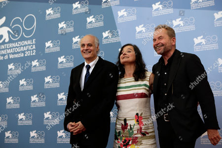 Maria Hofstatter, Ulrich Seidl Actors Nabil Saleh, Maria Hofstatter and director Ulrich Seidl pose at the photo call for the film 'Paradies: Glaube' (Paradise Faith) during the 69th edition of the Venice Film Festival in Venice, Italy