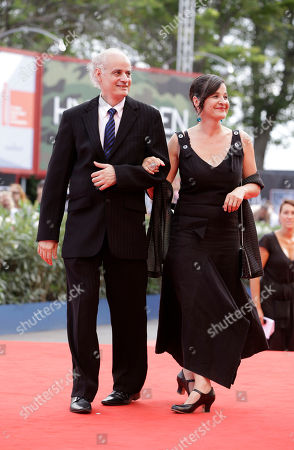 Stock Image of Nabil Saleh, Hofstatter Actors Nabil Saleh and Maria Hofstatter arrive or the premiere of the movie 'Paradies: Glaube' (Paradise Faith) at the 69th edition of the Venice Film Festival in Venice, Italy