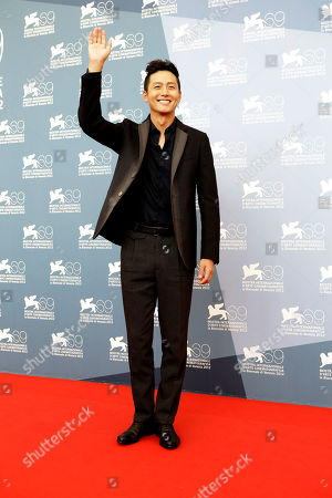 Lee Jung Jin Actor Lee Jung Jin poses for the photo call of the film 'Pieta' at the 69th edition of the Venice Film Festival in Venice, Italy