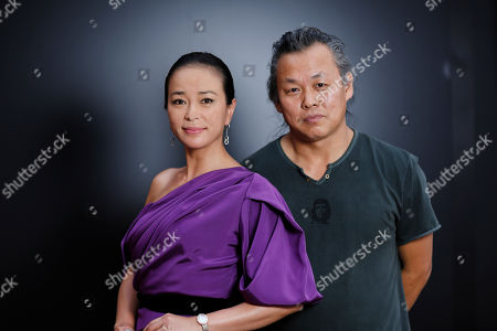 Actress CHO Min-soo, left, and director KIM Ki-duk pose for portraits at the 69th edition of the Venice Film Festival in Venice, Italy