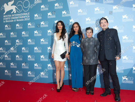 Lovi Poe, Mercedes Cabral, Nora Aunor, Brillante Mendoza From left, actresses Lovi Poe, Mercedes Cabral, Nora Aunor, and director Brillante Mendoza pose during the photo call of the movie 'Sinapupunan' at the 69th edition of the Venice Film Festival in Venice, Italy