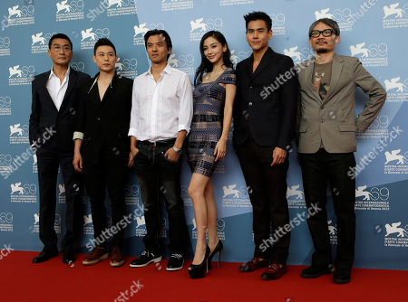 Andy Leung Ka-Fai, Yuan Xiaochao, Stephen Fung, Angelababy Yang, Eddie Peng, Kuo-Fu Chen From left, actors Andy Leung Ka-Fai, Yuan Xiaochao, director Stephen Fung, actors Angelababy Yang, Eddie Peng and producer Kuo-Fu Chen pose during the photo call of the movie 'Tai Chi 0' at the 69th edition of the Venice Film Festival in Venice, Italy