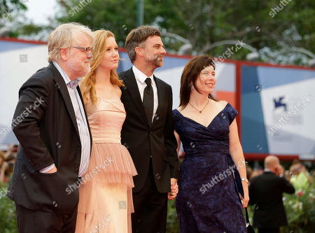Philip Seymour Hoffman, Madisen Beaty, Paul Thomas Anderson, JoAnne Sellar From left, actors Philip Seymour Hoffman, Madisen Beaty, director Paul Thomas Anderson and producer JoAnne Sellar arrive for the premiere of the movie 'The Master' at the 69th edition of the Venice Film Festival in Venice, Italy