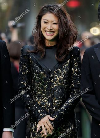 Yu Yamada Japanese model Yu Yamada smiles upon arrival at the opening of the 25th Tokyo International Film Festival in Tokyo