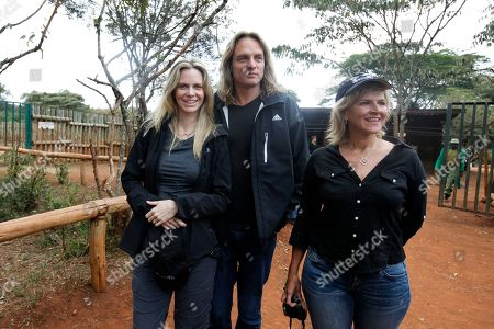 Kristin Bauer van Straten, Abri van Straten US actress Kristin Bauer van Straten, left, and her husband Abri van Straten at the David Sheldrick Elephant Orphanage in Nairobi, Kenya, . Bauer is a celebrity patron of the International Fund for Animal Welfare, IFAW, and is in Kenya to make a documentary that will highlight the threat to elephants and rhinos