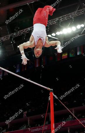 Editorial photo of London Olympics Artistic Gymnastics Men