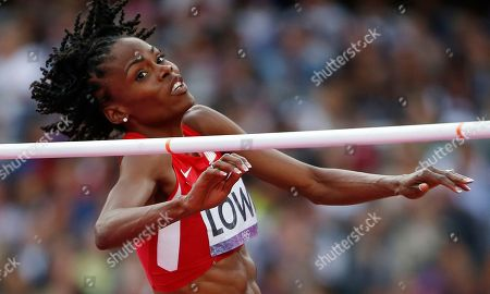 United States' Chaunte Lowe competes in the women's high jump final during the athletics in the Olympic Stadium at the 2012 Summer Olympics, London
