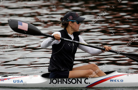 Carrie Johnson US kayaker Carrie Johnson warms Editorial
