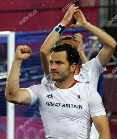 James Tindall Britain's James Tindall clenches his fist as he celebrates with teammates following a men's hockey preliminary match against Spain at the 2012 Summer Olympics, in London