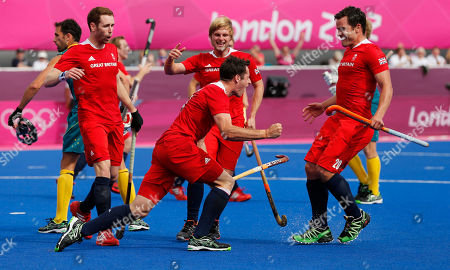 James Tindall Britain's James Tindall, right, celebrates scoring a goal against Australia with teammates in the men's field hockey bronze medal match at the 2012 Summer Olympics, in London