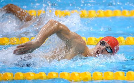 Nicholas Woodbridge Nicholas Woodbridge of Great Britain swims the 200-meter freestyle during the swimming portion of the men's modern pentathlon at the Aquatics Centre in the Olympic Park during the 2012 Summer Olympics in London