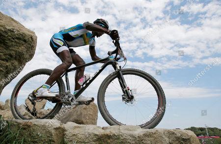 Adrien Niyonshuti Rwanda's Adrien Niyonshuti competes in the Mountain Bike Cycling men's race, at the 2012 Summer Olympics, at Hadleigh Farm, in Essex, England