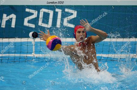 Merrill Moses United States goalkeeper Merrill Moses (1) saves a goal in the second half against Croatia in the men's water polo quarterfinal, in London. Croatia eliminated the United States 8-2