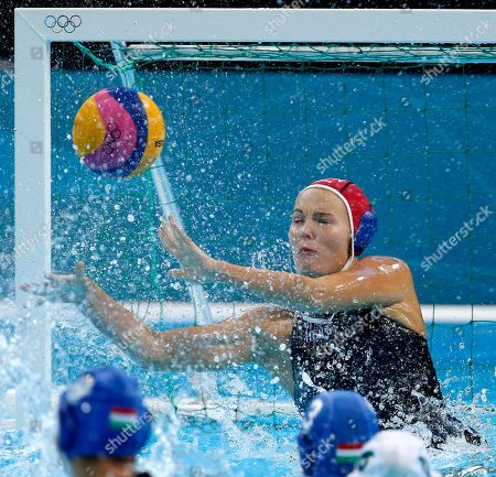 Flora Bolonyai Goalkeeper Flora Bolonyai of Hungary is unable to stop a shot by Nicola Zagame, not pictured, as Australia took a 1-0 lead during the bronze medal women's water polo match at the 2012 Summer Olympics, in London