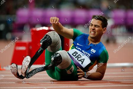 Alan Fonteles Cardoso Oliveira Brasil's Alan Fonteles Cardoso Oliveira reacts after competing in the Men's 4 x 100 Relay T42-46 final at the 2012 Paralympics in London