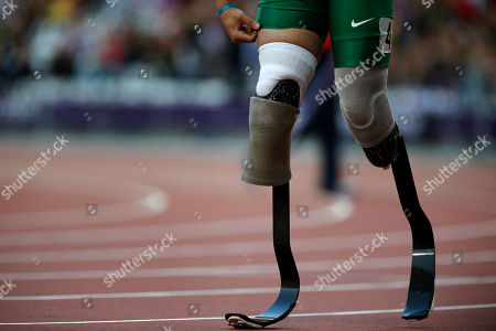 Alan Fonteles Cardoso Oliveira Brazil's Alan Fonteles Cardoso Oliveira walks after winning the Men's 100m T44 round 1 at the 2012 Paralympics in London
