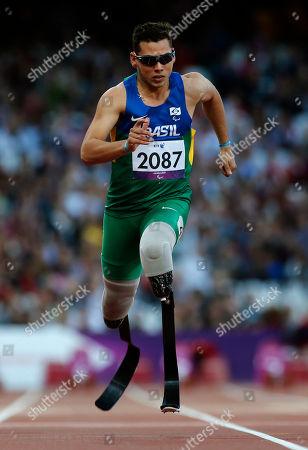 Alan Fonteles Cardoso Oliveira Brasil's Alan Fonteles Cardoso Oliveira in action during the Men's 100m T44 round 1 at the 2012 Paralympics in London