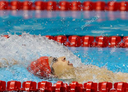 Britain's Jonathan Fox competes in the men's 100m Backstroke S7 category at the 2012 Paralympics Olympics, in London