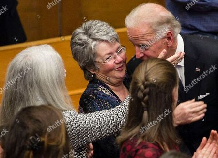 Susan Rowan, Ann McGovern, Joe Biden Susan Rowen, left, and Ann McGovern thank Vice President Joe Biden, right, following his remarks at a prayer service for their father, former Democratic U.S. senator and three-time presidential candidate George McGovern at the First United Methodist Church in Sioux Falls, S.D., . McGovern died Sunday in his native South Dakota at age 90
