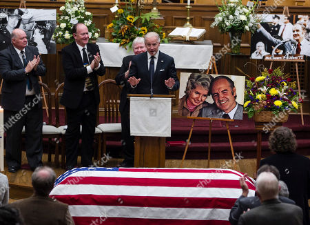 Joe Biden Vice President Joe Biden speaks at a prayer service for former Democratic U.S. senator and three-time presidential candidate George McGovern at the First United Methodist Church in Sioux Falls, S.D., . McGovern died Sunday in his native South Dakota at age 90