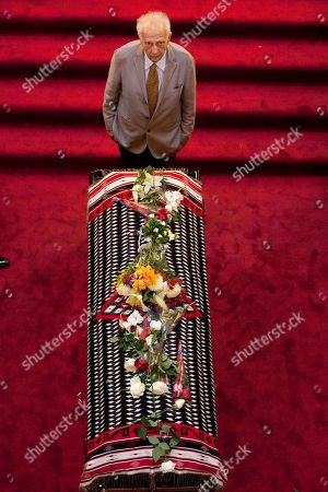 Sergio Pitol Mexican writer Sergio Pitol mourns next to the draped casket of the late Mexican singer Chavela Vargas during her wake in Bellas Artes Palace in Mexico City, Tueday, . Chavela Vargas, who defied gender stereotypes to become one of the most legendary singers in Mexico, died Aug. 5 at age 93