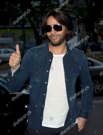 """Joaquin Cortes Spanish dancer Joaquin Cortes gestures as he arrives to attend a news conference in Mexico City, . Cortes is in Mexico to promote his newest show called """"Cale"""