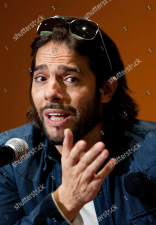 """Joaquin Cortes Spanish dancer Joaquin Cortes speaks during a news conference in Mexico City, . Cortes is in Mexico to promote his newest show called """"Cale"""