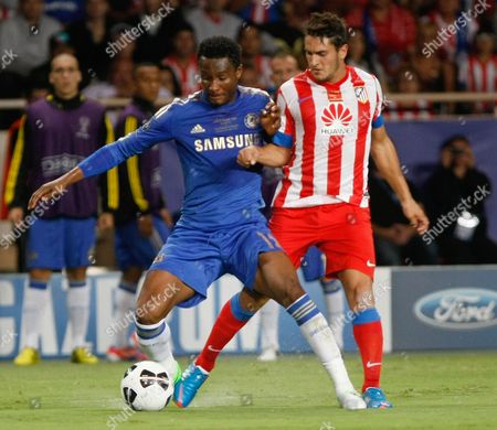 Jorge Resurreccion Merodio, Ramires Atletico Madrid'Spanish midfielder Jorge Resurreccion Merodio, right, challenges for the ball with Chelsea's Brazilian midfielder Ramires, during their UEFA Super Cup final soccer match in Monaco