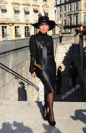 Thailand's Princess Siriwanwaree Nareerat arrives to attend Hermes' ready to wear Spring-Summer 2013 collection, presented in Paris, Sunday, Sept.30, 2012