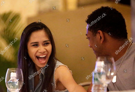 """Jessica Sanchez, Joshua Ledet Jessica Sanchez, left, the runner-up in the season 11 reality singing show """"American Idol"""" reacts to a joke from Joshua Ledet during a news conference together with the season's top ten finalists at the Manila Hotel, in Manila, Philippines. The American Idol winners, led by Phillip Phillips and hometown favorite Sanchez, whose mother is from the Philippines, arrived Tuesday for a concert as part of their American Idol Live! Tour 2012"""