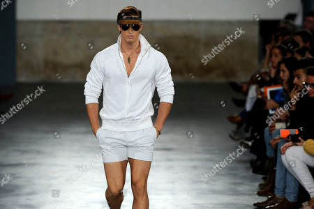 A model displays a creation by American designer Michael Bastian during the Portugal Fashion Spring/Summer 2013 week, in Porto, Portugal