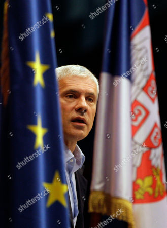 Boris Tadic Serbia's former President and Democratic Party leader Boris Tadic speaks during a key congress on the party's future in Belgrade, Serbia, . Mayor of Belgrade and deputy president of the Democrats, Dragan Djilas and part of the membership is unhappy with Tadic after losing the May elections