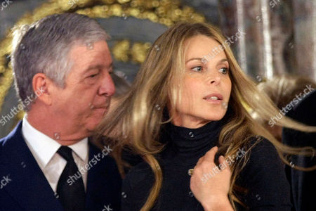 Crown Prince Aleksandar Karadjordjevic, Catherine Oxenberg Actress Catherine Oxenberg, daughter of Princess Elizabeth Karadjordjevic, right, reacts by Serbia's Crown Prince Aleksandar Karadjordjevic during a ceremony after the exhumation of Karadjordjevic former Yugoslavia royal family coffins, in Belgrade's Congregational church, Serbia, Thursday, Oct.4, 2012. The coffins of Princess Olga Karadjordjevic, (1903-1997), Prince Paul Karadjordjevic (1893-1976) and Prince Nicholas Karadjordjevic (1928-1954) will be reburied in the family vault in Topola near Belgrade in Serbia on October 6