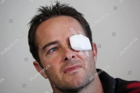 Mark Boucher Former South African wicketkeeper Mark Boucher at his first press conference after he sustained a serious injury to his left eye in the city of Cape Town, South Africa, . Mark Boucher he lost the lens, iris and pupil of his left eye in the accident that forced him to retire early. In th statement Wednesday, Boucher said he's had two major operations and four blood drainings from his injured eye. He said his injury kept him indoors as light would hurt his eye and that he would probably not play professional cricket again in the near future.Boucher was injured in South Africa's tour game against Somerset in July. He was hurt while keeping to legspinner Imran Tahir as the ball hit the bail, which then ricocheted into his eye. He announced his international retirement the day after the injury following an operation on the ruptured eyeball
